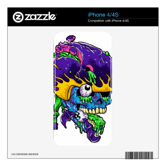 Skater zombie. decals for iPhone 4