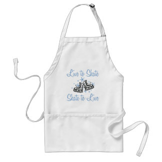 SkaterChick Live to Skate Adult Apron