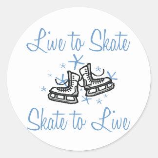 SkaterChick Live to Skate Classic Round Sticker