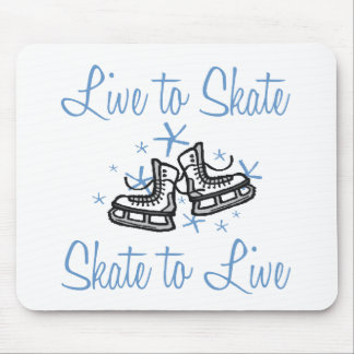 SkaterChick Live to Skate Mouse Pad