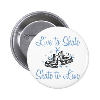 SkaterChick Live to Skate Pinback Button