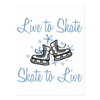 SkaterChick Live to Skate Postcard