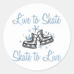 SkaterChick Live to Skate Sticker