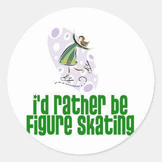 SkaterChick Rather Classic Round Sticker