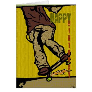 skaters2, feliz, cumpleaños tarjeta de felicitación