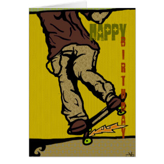skaters2, Happy, Birthday Greeting Card