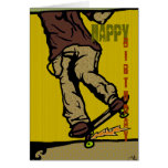 skaters2, Happy, Birthday Greeting Cards
