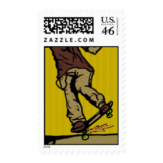 skaters2 postage stamps