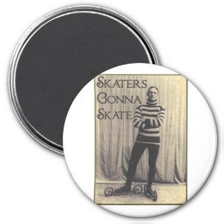 Skaters Gonna Skate... 3 Inch Round Magnet