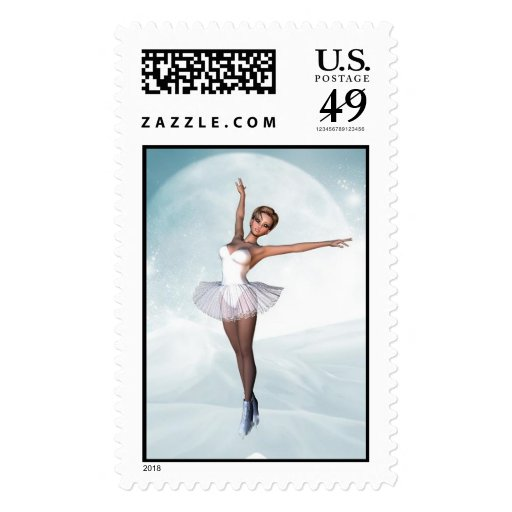 Skater's Moon Postage Stamps