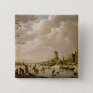 Skaters on a Frozen Canal, 1779 Button
