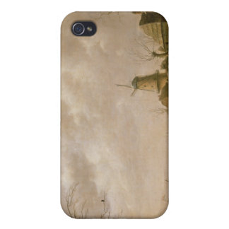 Skaters on a Frozen Canal, 1779 iPhone 4 Case