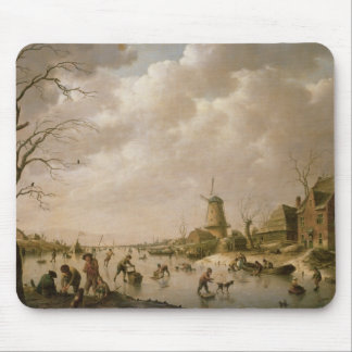 Skaters on a Frozen Canal, 1779 Mouse Pad