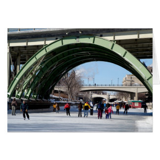 Skaters on the Rideau Canal  Card