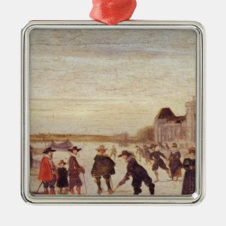 Skaters on the Seine in 1608 Ornaments