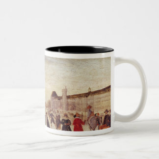 Skaters on the Seine in 1608 Two-Tone Coffee Mug