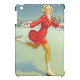 Skaters Waltz Retro Winter Scene Case For The iPad Mini