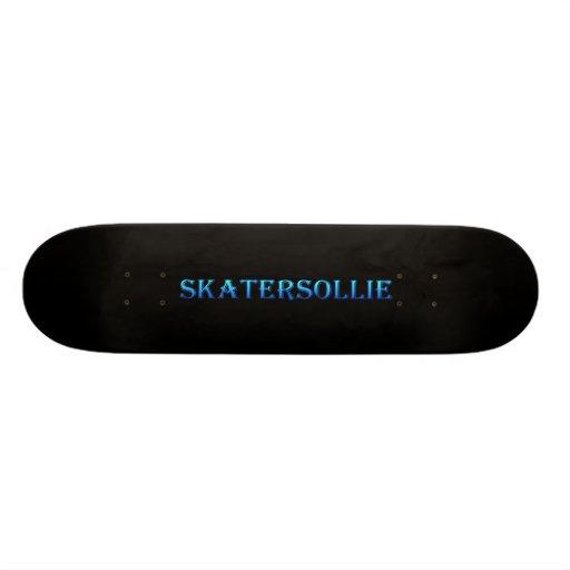 skatersollie blue skateboard deck