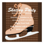 Skates and Tweed Invitation