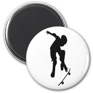 Skating 2 Inch Round Magnet