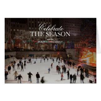 Skating at ice skating rink in Rockefeller Center Card
