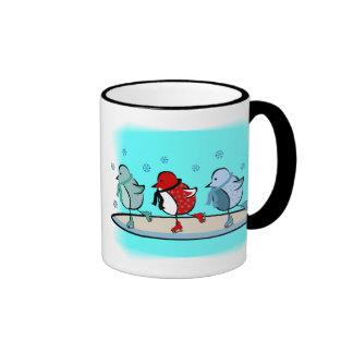 Skating Birdies Holiday Mug
