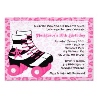 Skating Birthday Party Card