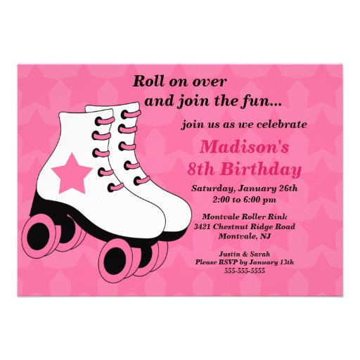 Skating Party Invitation Template with beautiful invitation template
