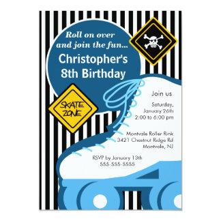 "Skating Birthday Party Invitation 5"" X 7"" Invitation Card"