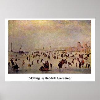 Skating By Hendrik Avercamp Poster