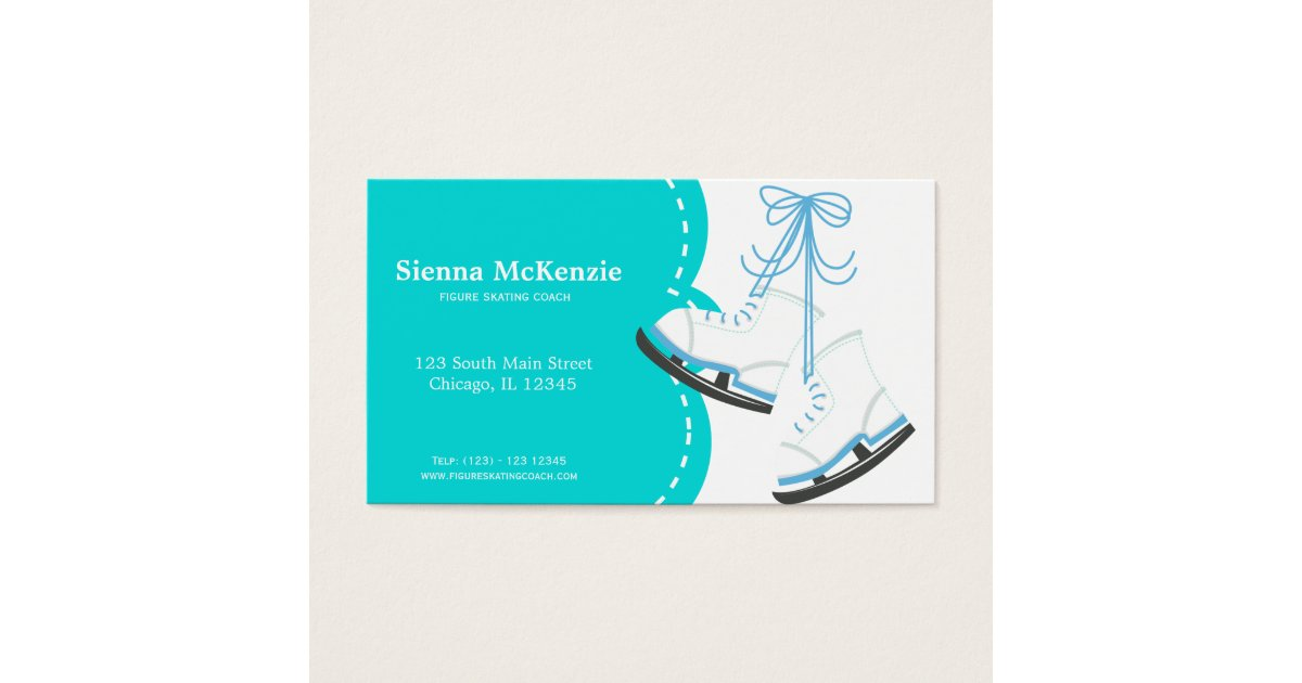 Figure Skating Business Cards & Templates | Zazzle