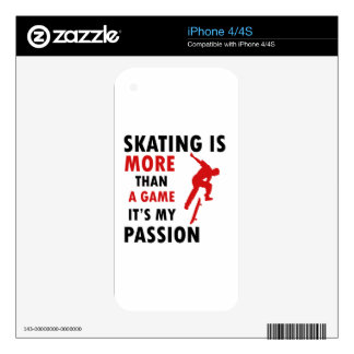SKATING DESIGN DECALS FOR iPhone 4S
