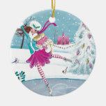 Skating Girl Christmas Holiday Ornament