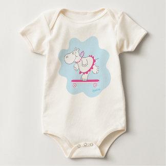 Skating Hippo Baby Bodysuit