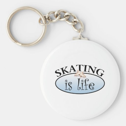Skating is Life Basic Round Button Keychain