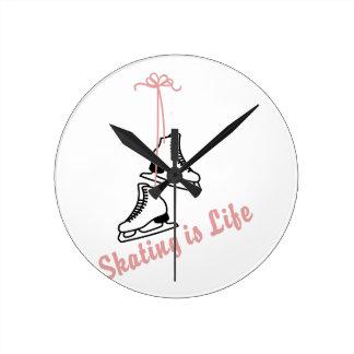 Skating Is Life Round Clock