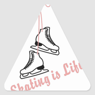 Skating Is Life Triangle Sticker