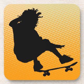 skating man Cork Coaster