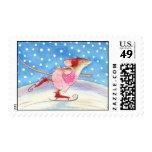 Skating Mouse postage stamp