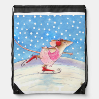 Skating Mouse winter sports Backpack