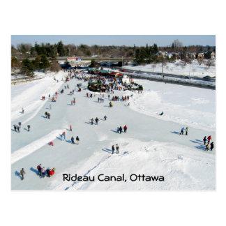 Skating on Dow's Lake at Bronson Bridge Postcard