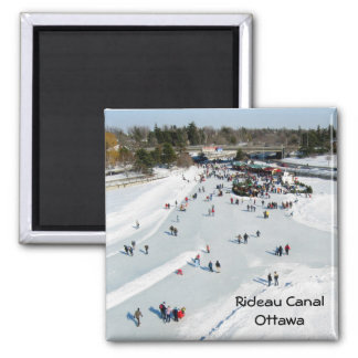 Skating on the Rideau Canal, Ottawa. Magnet