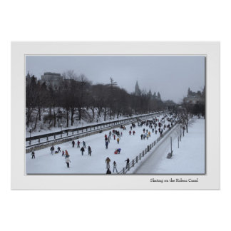 Skating on the Rideau Canal Print
