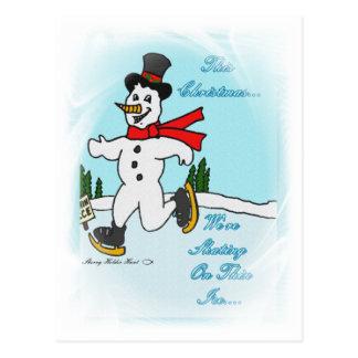 Skating on Thin Ice Postcard