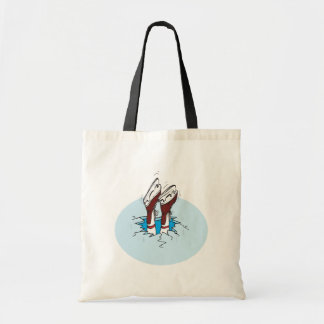 Skating On Thin Ice Tote Bag
