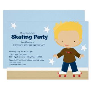 Skating Party | Blonde boy Card