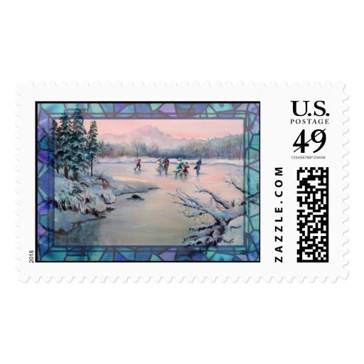 SKATING PARTY by SHARON SHARPE Stamp