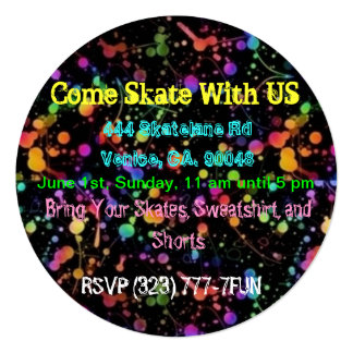 SKATING PARTY CUSTOMIZABLE INVITATIONS - CELEBRATE
