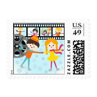 Skating Party Postage Stamps