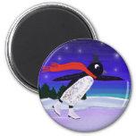 Skating Penguin Fridge Magnet